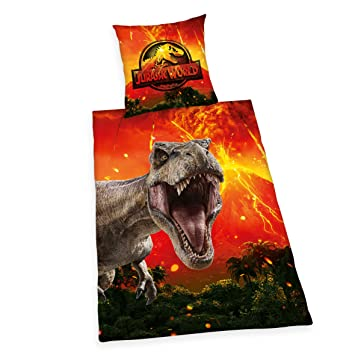 Herding Jurassic World Bettwäsche Set Wendemotiv Bettbezug 135 X