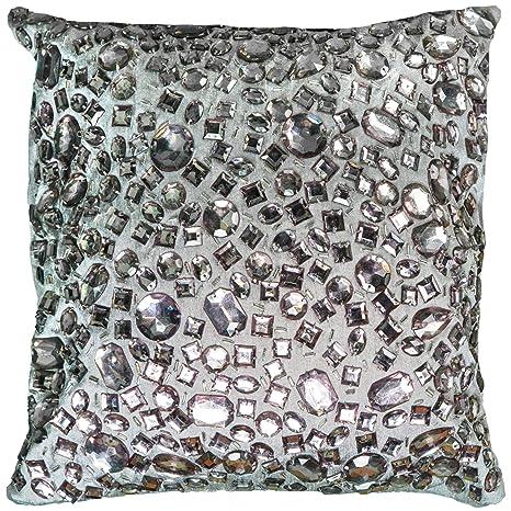 Amazon.com: Rizzy Home t05936 Applique de grandes abalorio ...