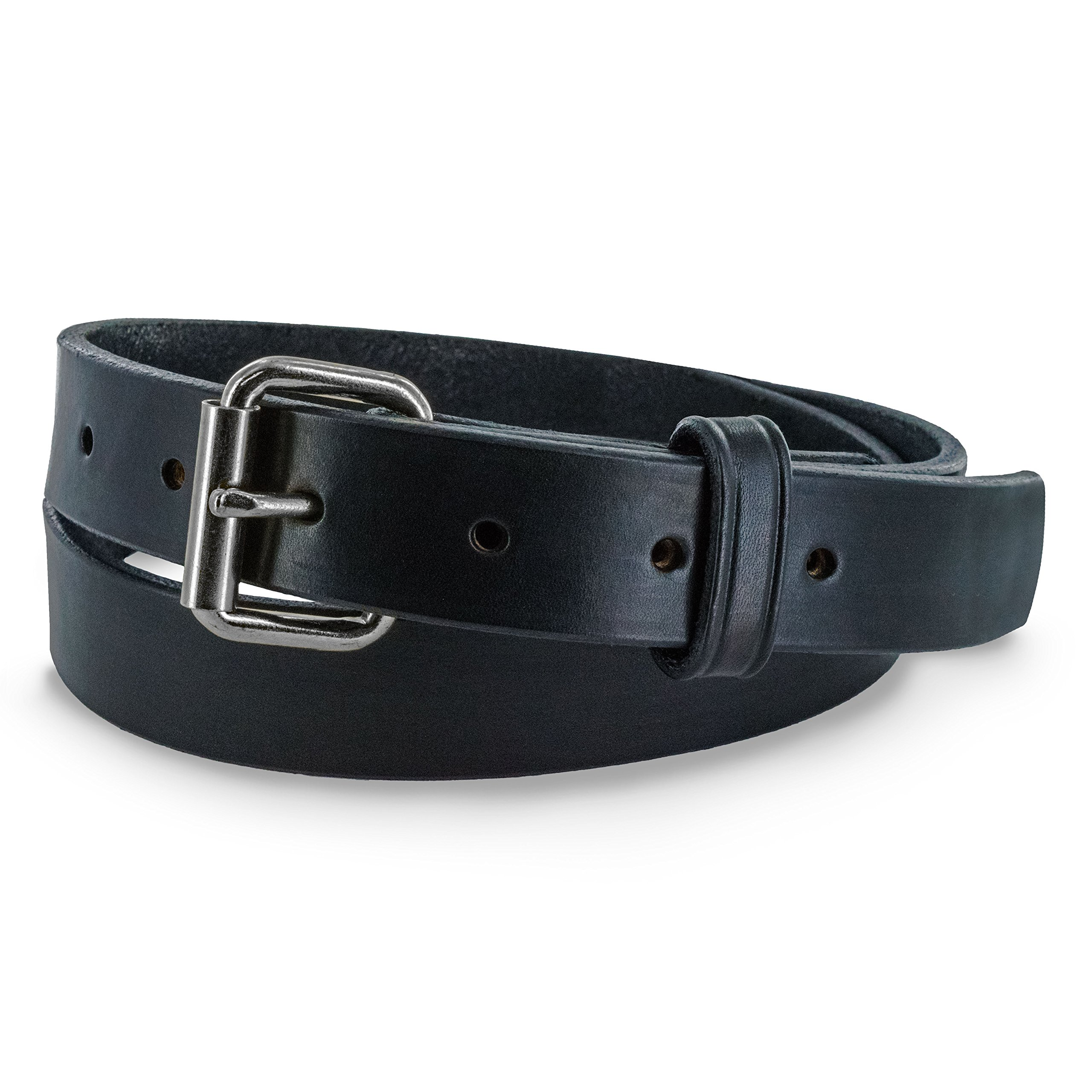 Hanks 1.25'' Leather Belt -Casual Jean Belt-USA Made,100-Year Warranty-The Deputy (Black, 32 - Fits 30 Pant) by Hanks Belts