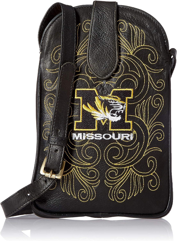 One Size Black Gameday Boots NCAA Missouri Tigers Womens Cross Body Purse