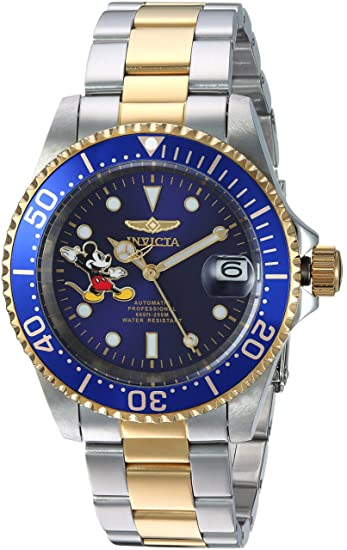 Invicta 24754 Disney Limited Edition - Mickey Mouse Reloj Unisex acero inoxidable Automático Esfera azul: Amazon.es: Relojes