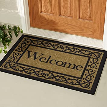 Exceptionnel Ottomanson Ottohome Collection (Machine Washable/Non Slip) Welcome Door Mat  Rug
