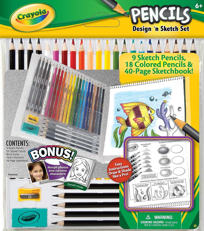 Crayola Sketch 65 Piece Crayola Pencils Set With Graphite Pencils