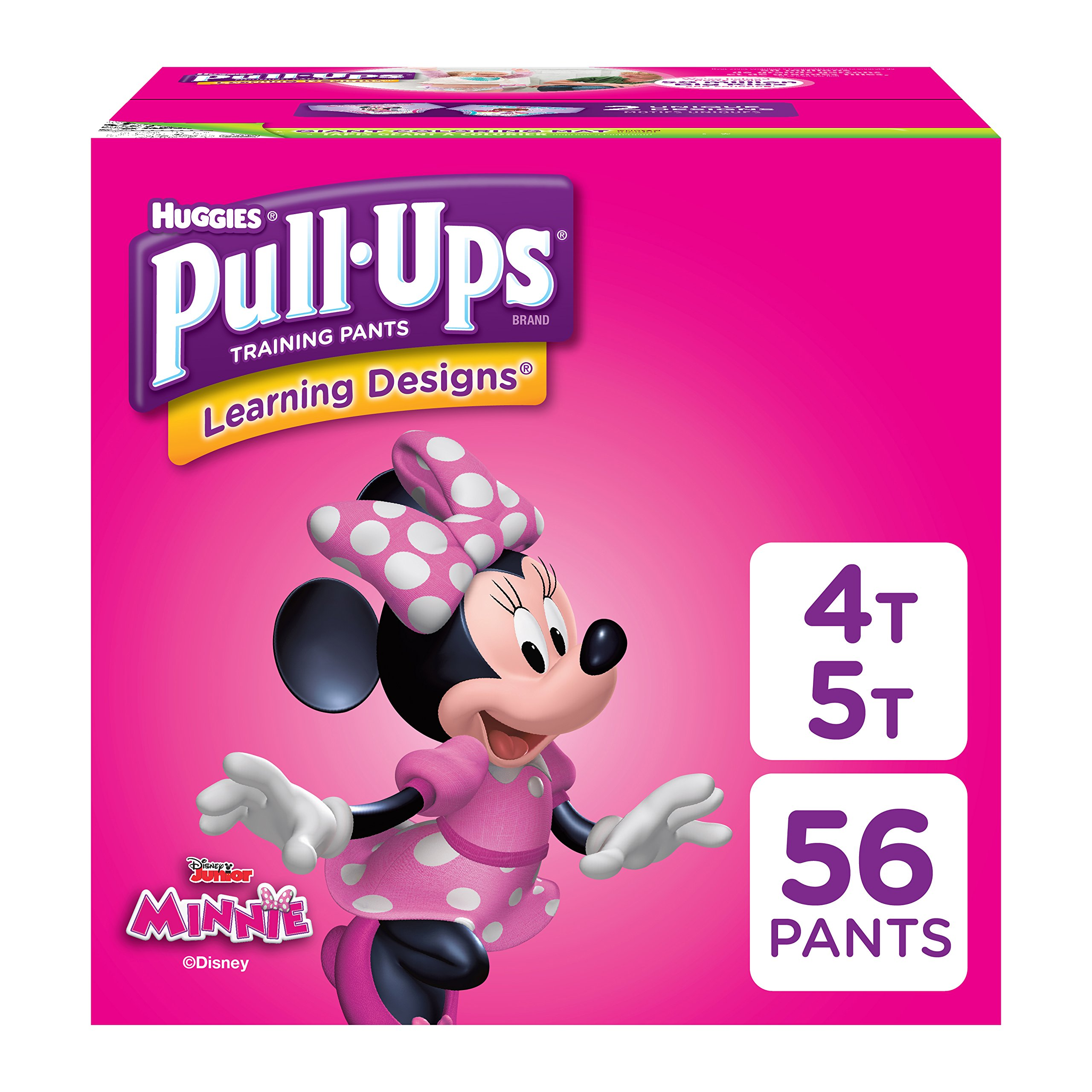 Pull-Ups Learning Designs for Girls Potty Training Pants, 4T-5T (38-50 lbs.), 56 Ct. (Packaging May Vary) by Pull-Ups