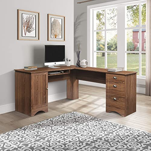 SSLine L-Shaped Computer Desk,Wooden Home Office Corner Desk,Writing Study Table