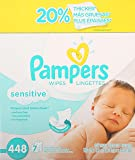 Pampers Sensitive Wipes, 448 Count