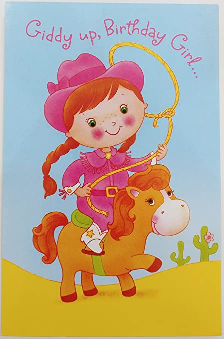 Amazon Giddy Up Birthday Girl Cowgirl Party Greeting Card