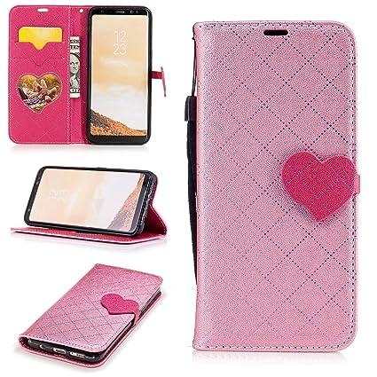 Amazon.com: Galaxy S8 Funda tipo portafolios, Jeccy 2-en-1 ...