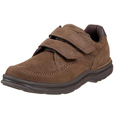 Rockport Men's World Tour Casner Hook-And-Loop Walking Shoe,Chocolate  Nubuck,