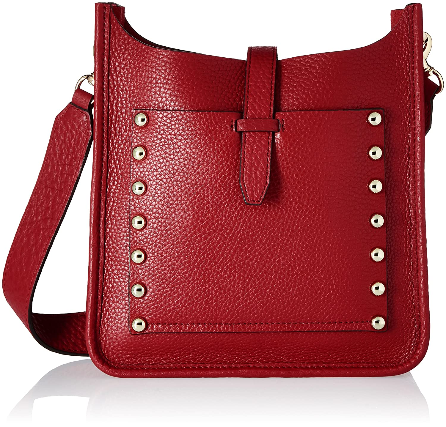 Rebecca Minkoff Small Unlined Feed Cross-Body Bag Deep Red HR26IULX92