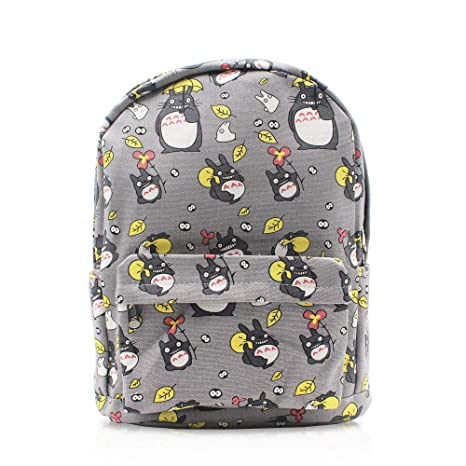 Finex My Neighbor Totoro Gray Canvas Japanese Comic Cartoon Casual Backpack  with 15 inch Laptop Storage 5769f72df7