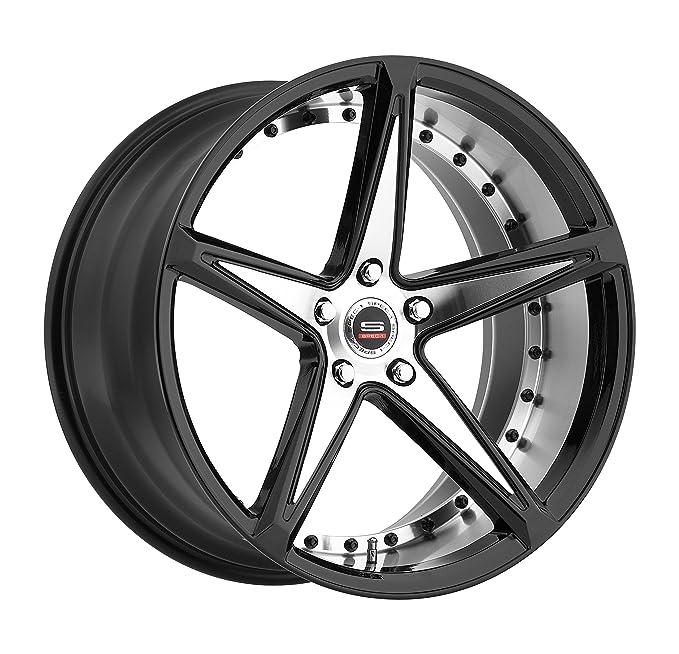 Amazon Com Spec 1 Monotec Spm 78 Gloss Black Machined Wheels 20x10