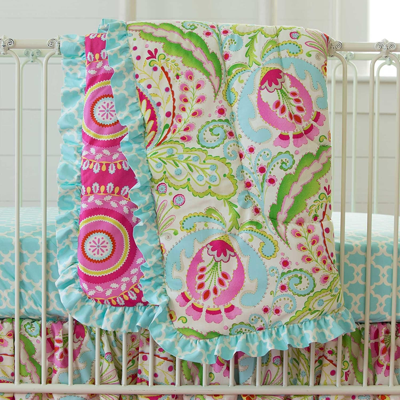 Carousel Designs Kumari Garden Crib Comforter