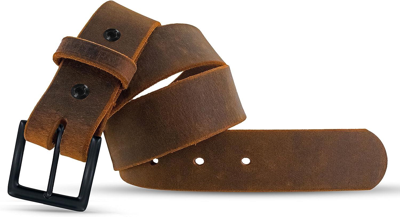 Hanks Jean Belt USA Made 100-Year Warranty 1.5 Mens Leather Belt