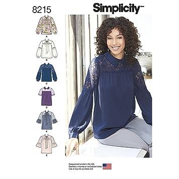 Simplicity 8215 Schnittmuster Misses für Eine Bluse mit Schleife ...