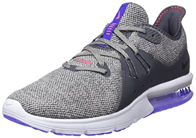Nike Mens Air Max Sequent 3 Running Shoe (6.5, Dark Grey/Black-