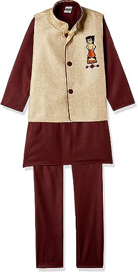 b91d66df0 Chhota Bheem Boys' Kurta Pyjama (GGAPP-CB525D_Beige_7-8 yrs): Amazon.in:  Clothing & Accessories