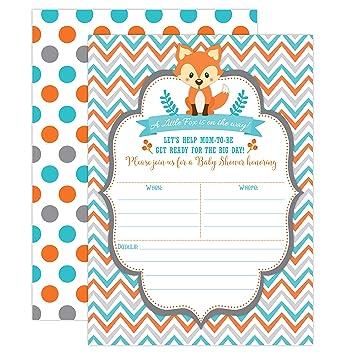 Amazon fox baby shower invitations woodland baby shower fox baby shower invitations woodland baby shower invitations boy baby shower invitations blue filmwisefo