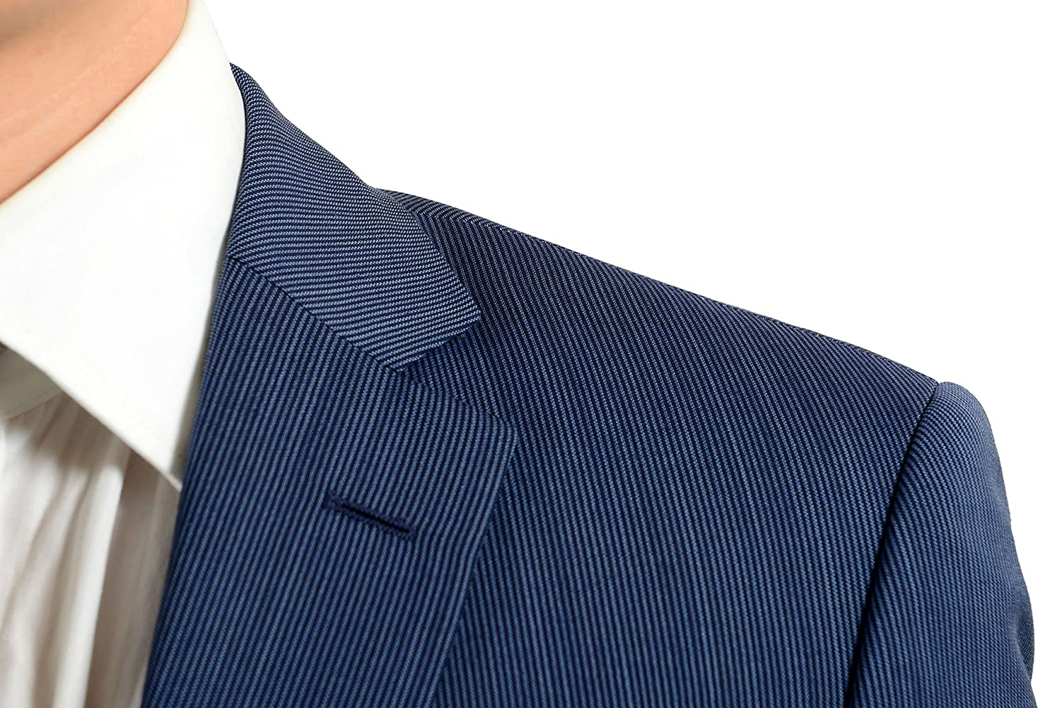 88be4a5f0 ... Hugo Boss Paolini1/Movio1US Mens 100% Wool Blue Two Button Suit SZ US  36S ...