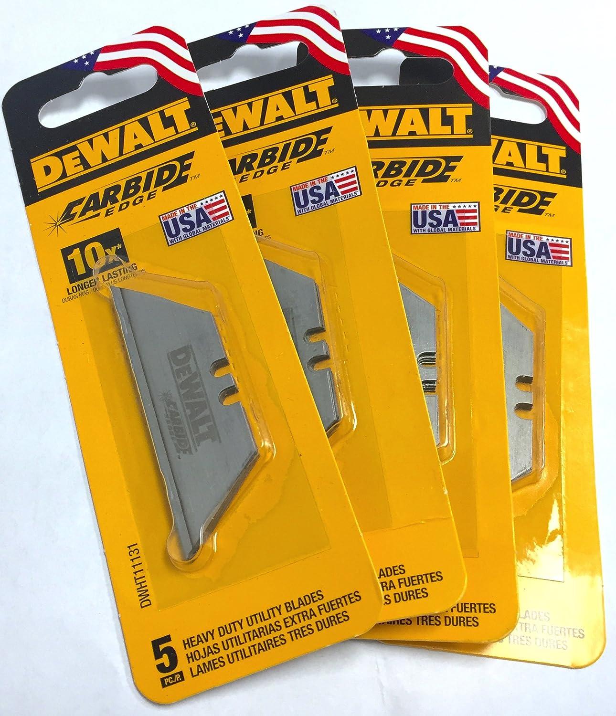 DeWalt Carbide Edge Utility Knife Blade - Last 10x Longer (20-Pack)