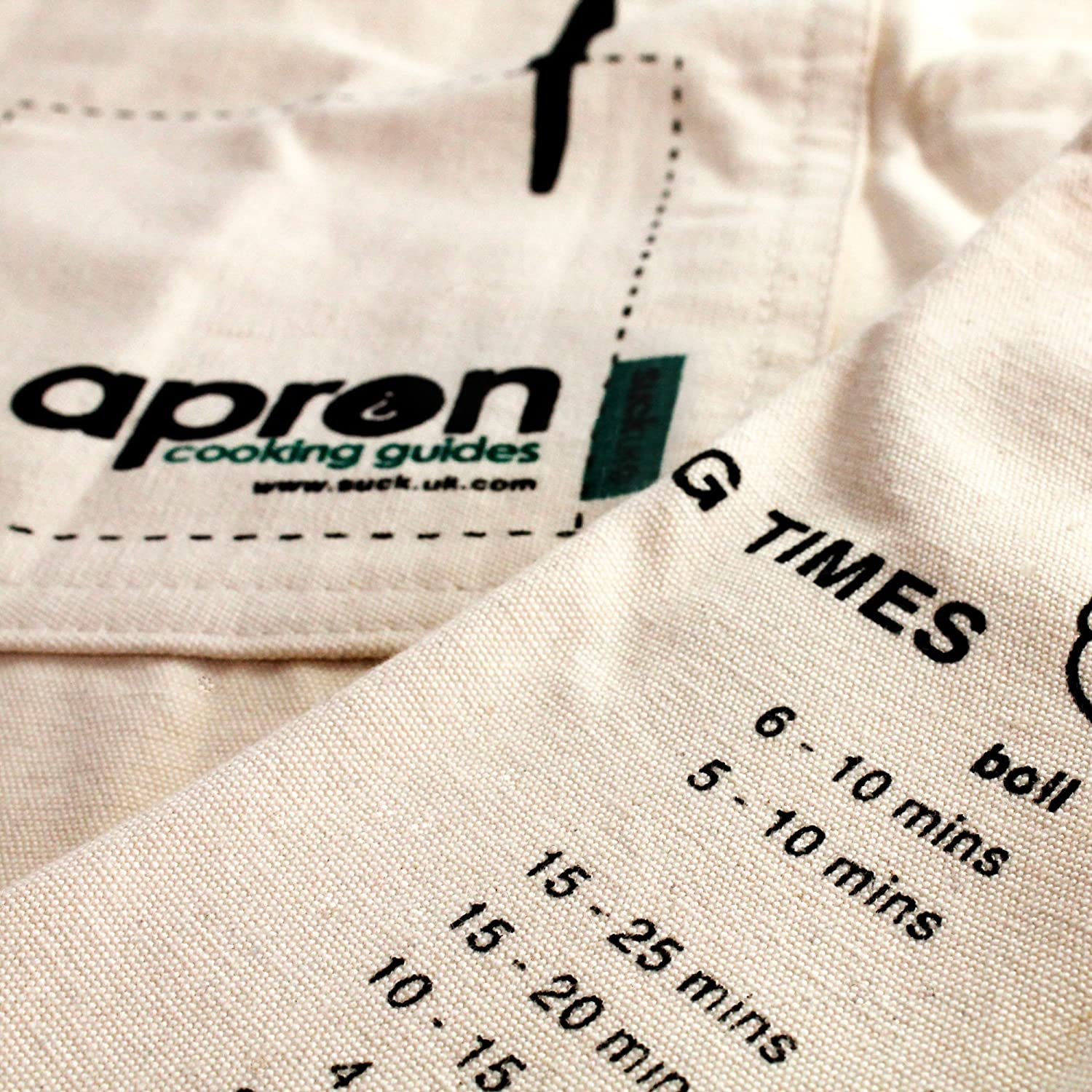 Apron with Cooking Guide by SUCK UK