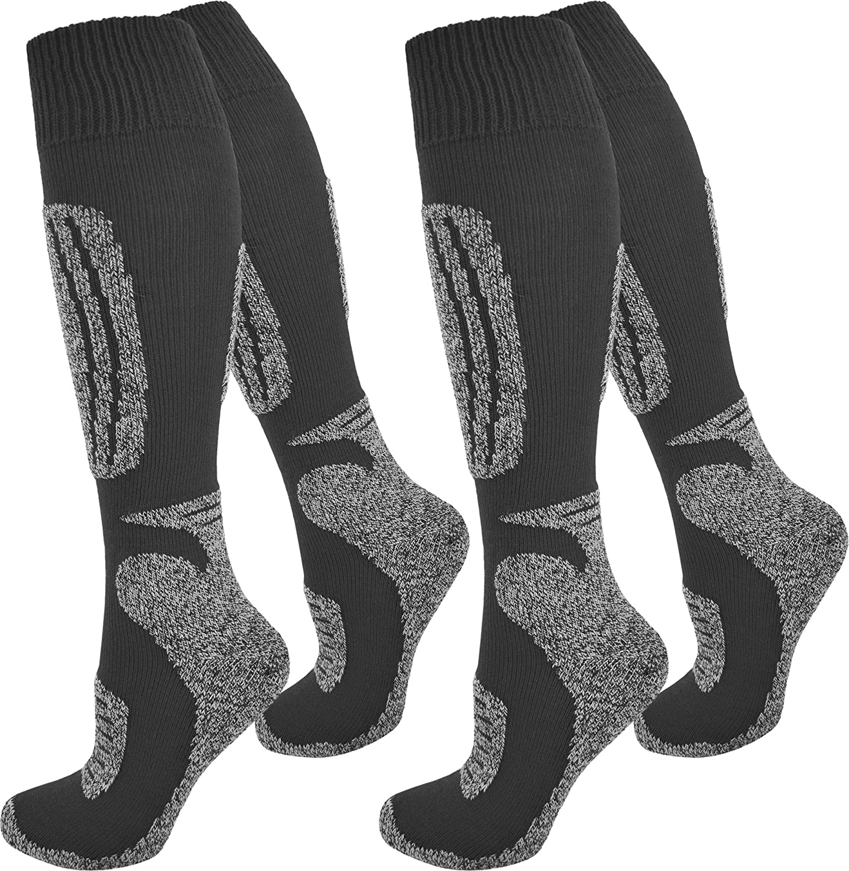 normani 2 Paar Thermo Ski-Socke, atmungsaktiv und schützend