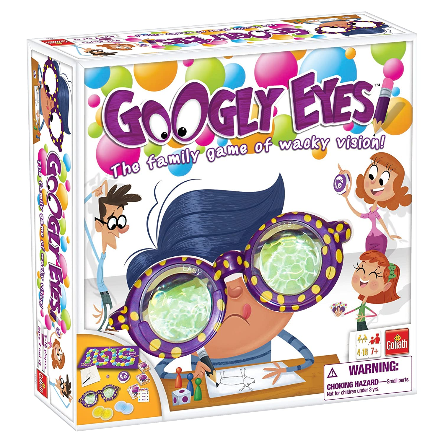Amazon.com: Googly Eyes Game — Family Drawing Game with Crazy ...