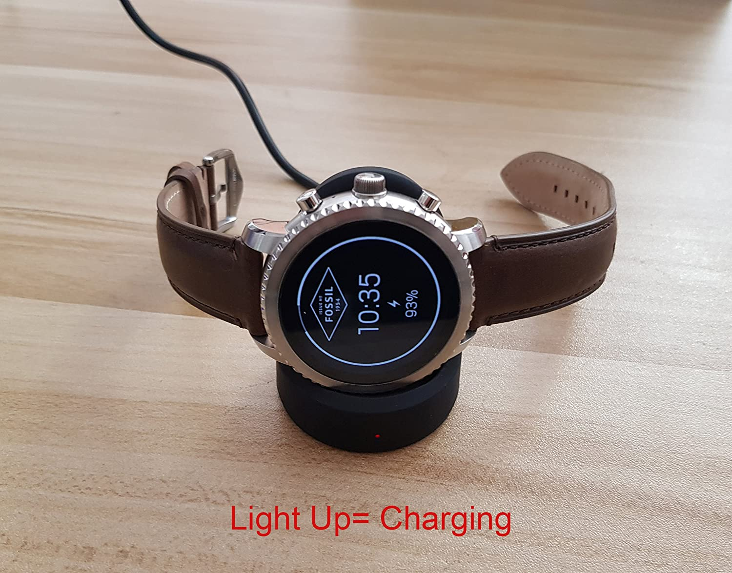 For Fossil Q Marshal Charger Lamshaw Wireless Charging Dock Cradle Black