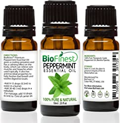 BioFinest Peppermint Oil - 100% Pure Peppermint Essential Oil - Therapeutic Grade - Premium Quality - Best For Aromatherapy, Headaches and Migraines Relief - FREE E-Book (10ml)