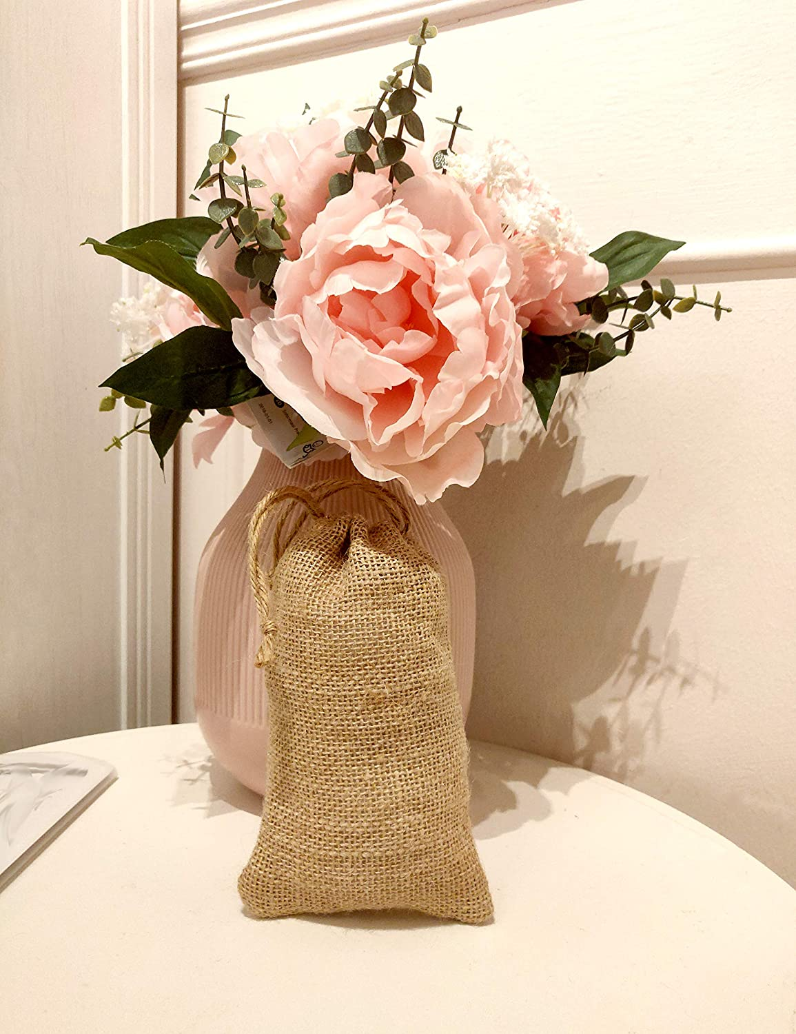 YUXIER 24 Small Burlap Bags with Drawstring Burlap Favor Bags Jute Bags Burlap Jewelry Bags Burlap Tie Bags Small Burlap Sack 6.9 x 4.3 in for Showers Party Arts Crafts Projects Presents Snacks Numberonebay