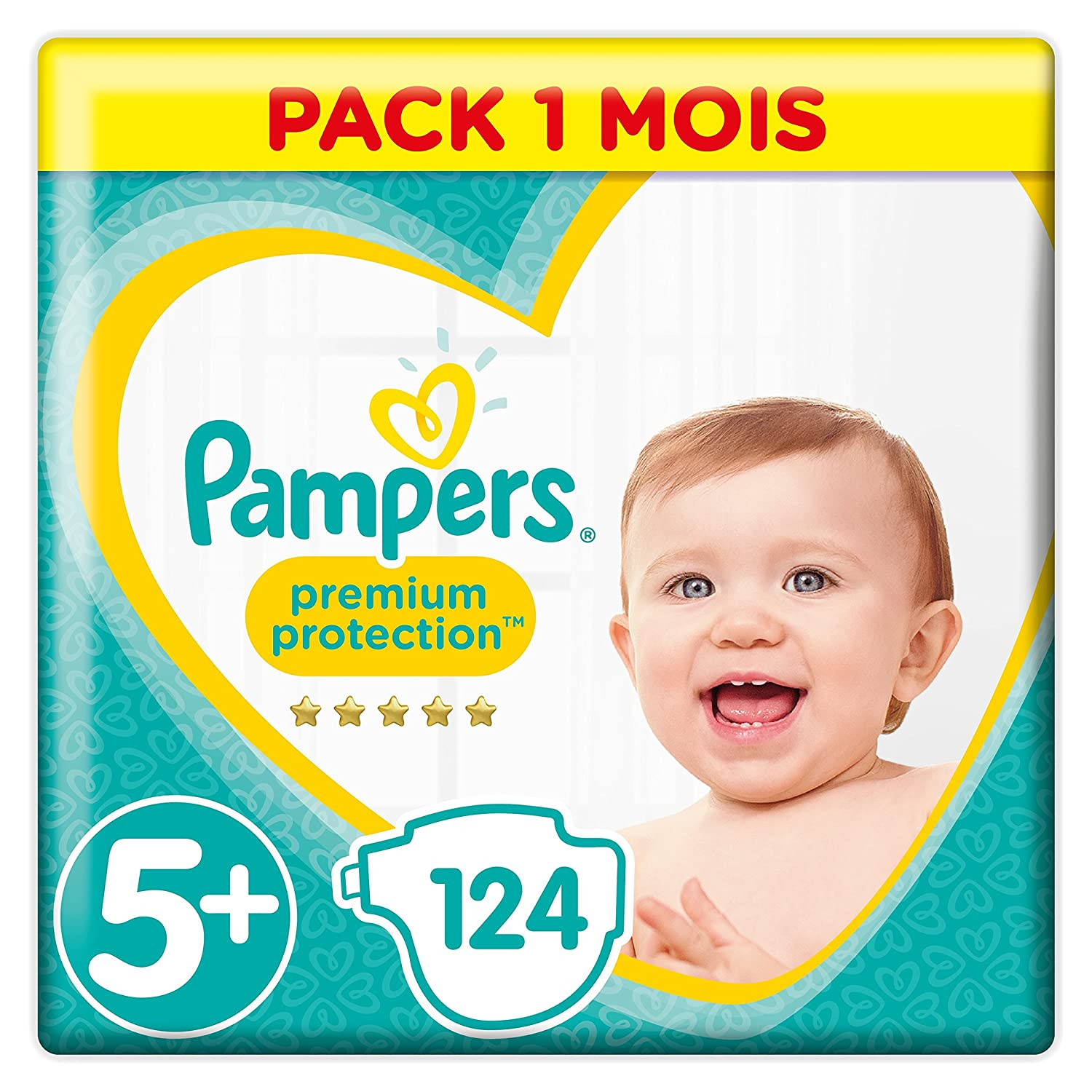 Pampers - Premium Protection - Couches Taille 5 (11 - 23 kg) - Pack 1 mois (x136 couches) 81561734