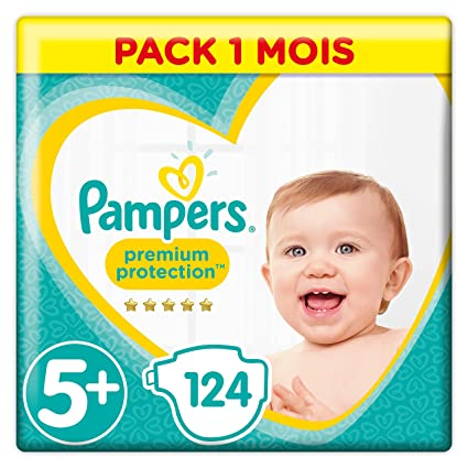 Pampers - Protección Premium - Pañales talla 5+ (12-17/13-