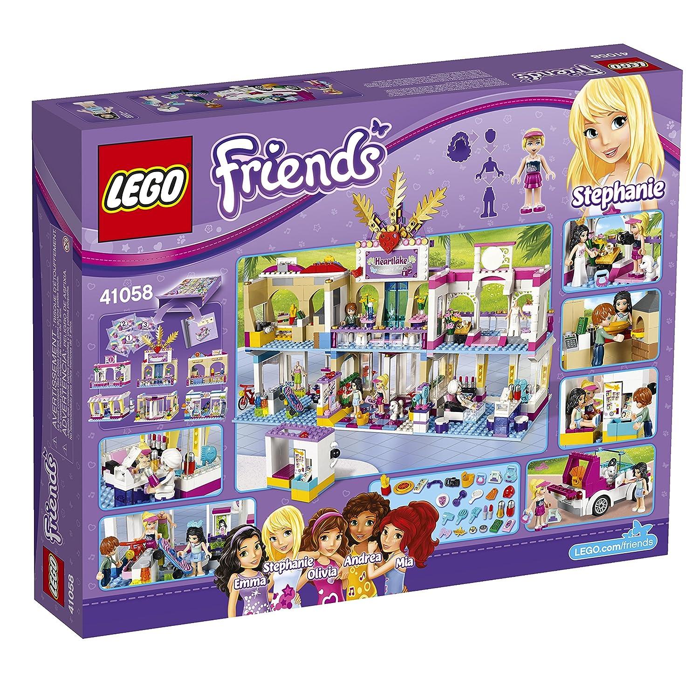 Amazoncom Lego Friends Heartlake Shopping Mall Building Set 41058