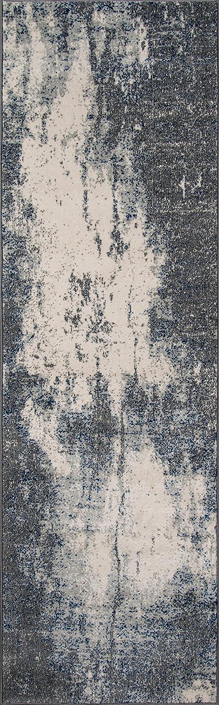 Contemporary Area Rug Momeni Rugs LOFT0LO-03GRY7A9A Loft Collection Grey 7/'10 x 9/'10 Inc. 710 x 910