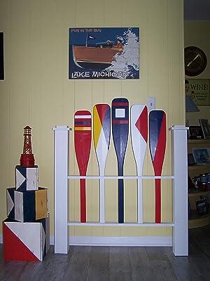 Nautical twin headboard, Coastal headboard, Shabby Chic headboard, Cottage headboard,