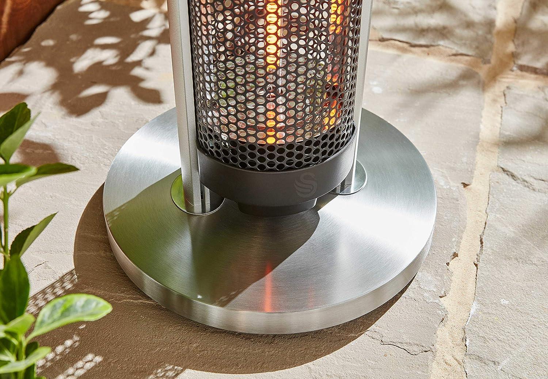 Swan Al Fresco SH16320N Bar Table Patio Heater Anodized Aluminium Alloy Frame Tempered Glass Table Top 800 and 1600 Watts