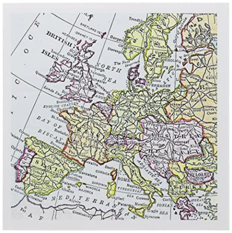 Map Of Western France.Amazon Com 3drose Vintage European Map Of Western Europe Britain