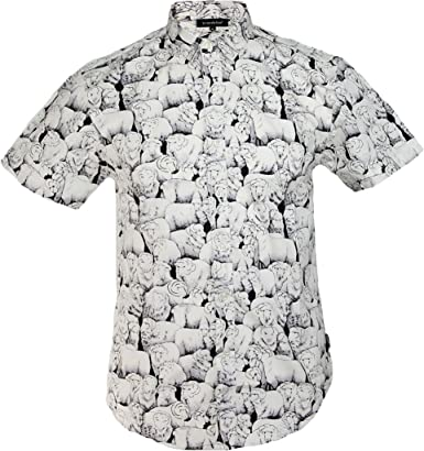TRANKILO Camisa Estampado de ovejas (S): Amazon.es: Ropa y accesorios