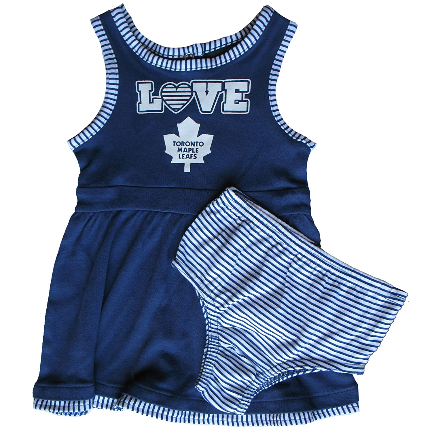 Toronto Maple Leafs Toddler Girls Dress and Bloomers Set - Size 4T Outerstuff