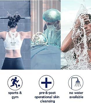 DYMACARE/® Waschhandschuhe parf/ümfrei Waschen ohne Wasser