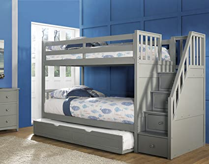 Amazon.com: Hillsdale Furniture NE Kids Barrett Stair Bunk Bed