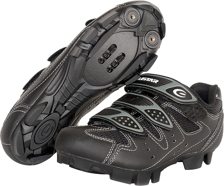 EXUSTAR E-SM324 MTB Shoe 45 Euro or 11 US, Black