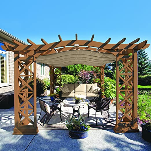Yardistry 8 ft. X 12 pies. W x 12 pies. D Pergola: Amazon.es: Jardín