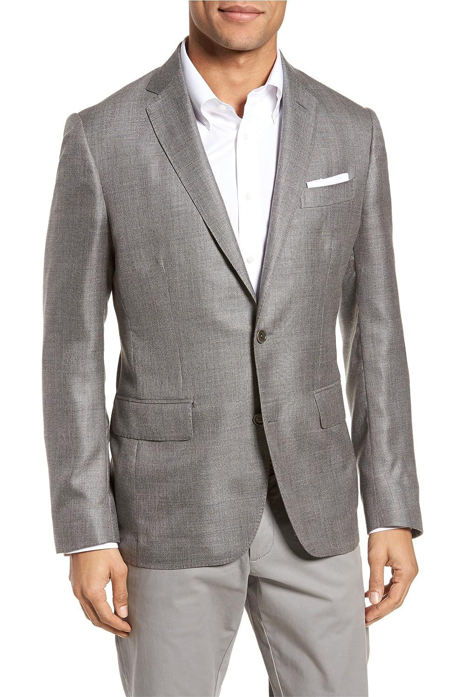 [モンテロッソ] メンズ ジャケットブルゾン Monte Rosso Trim Fit Cashmere & Silk Bla [並行輸入品] B07BF8F9ND 40 Regular