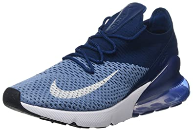 Amazon.com | Nike Men's Air Max 270 Flyknit, Work Blue/White-Brave ...