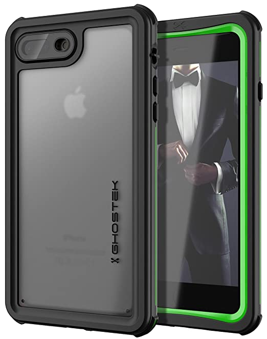 finest selection 66f6d 8042e Ghostek Nautical Waterproof Case Compatible with iPhone 8 Plus & iPhone 7  Plus - Green