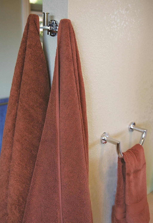 Polished Chrome 4603//PC Ginger 4603 Kubic 24 Towel Bar with Plain Rosette