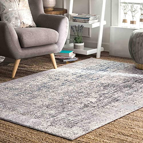 nuLOOM Tena Tribal Distressed Area Rug, 8 x 10 , Grey