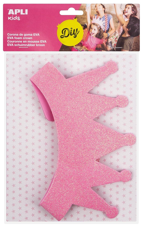 APLI Kids - Corona goma EVA purpurina rosa, 1 ud: Amazon.es: Juguetes y juegos