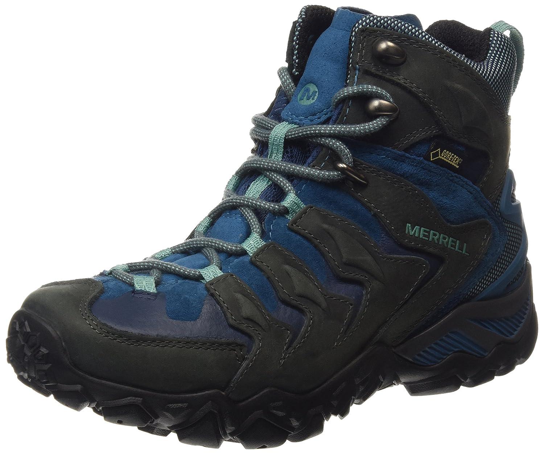 Merrell Cham Shift Mid GTX, Damen Trekking- & Wanderschuhe Grau (Granite)